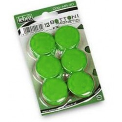 BLISTER 12 MAGNETI MR-30 VERDE DIAM.30MM