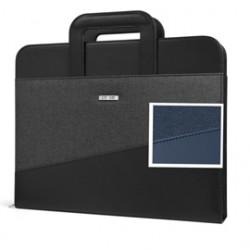 Portablocco CityTime c/manici rientranti 28,5x35,5cm blu Niji