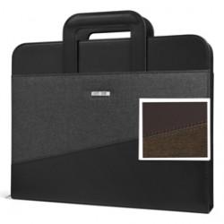 Portablocco CityTime c/manici rientranti 28,5x35,5cm marrone Niji