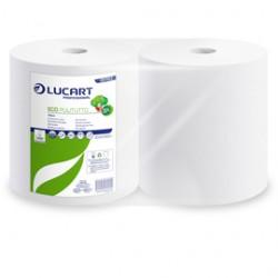 Bobina Asciugatutto 800 strappi / 200mt microgoffrata Eco Pulitutto Lucart - Conf da 2 pz.