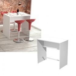 Tavolo alto 110x70xH105cm Bianco Ristoro