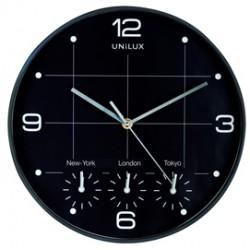Orologio da parete 30,5cm con 4 fusi On Time Unilux