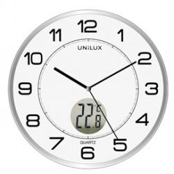 Orologio da parete 30,5cm con termometro Tempus Unilux