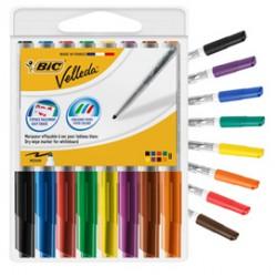 Astuccio 8 pennarelli VELLEDA 1741 punta tonda whiteboard colori assortiti BIC