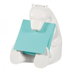 Dispenser Orso+ricarica Post-itSuper Sticky Z-Notes 76x76mm azzurro acquamarin