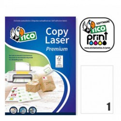 Etichetta adesiva LP4W bianca 100fg A4 210x297mm (1et/fg) Laser Tico