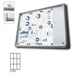 Bacheca interni Magnetica 9XA4 ante scorrevoli Jansen