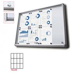 Bacheca interni Magnetica 12XA4 ante scorrevoli Jansen