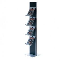 Totem porta brochure a 4 Ripiani in metallo