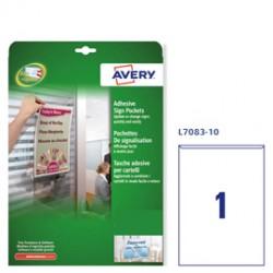 Conf. 10 Tasche adesive A4-21x29,7cm L7083 Avery