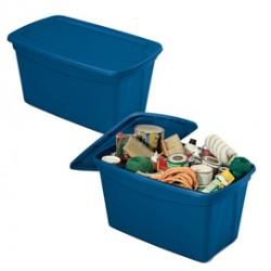 Contenitore multiuso ToteBox 82,4x50,5x44cm Blu Terry