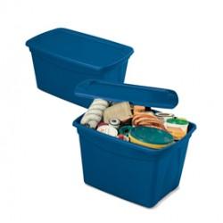 Contenitore multiuso ToteBox 61,3x47x40cm Blu Terry