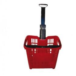 Cesto trolley antiurto 30Lt Rosso Printex