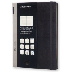PROFESSIONAL XL NOTEBOOK NERO MOLESKINE