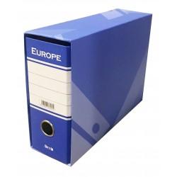 "REGISTRATORE ""EUROPE""    MEMORANDUM DORSO 8 BLU"