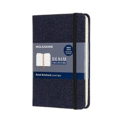 TACCUINO DENIM P A RIGHE PRUSSIAN BLUE MOLESKINE