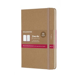 TWO-GO NOTEBOOK M KRAFT  BROWN MOLESKINE