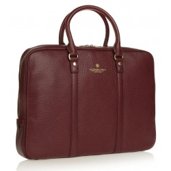 BRIEFCASE TIFFANY MANICI CORTI BORDEAUX SPALDING