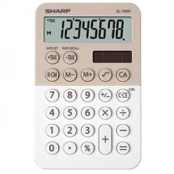 Calcolatrice tascabile EL 760R, 8 cifre, 2 colori design, beige - bianco