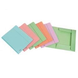 Cartella 3L c/elastico PPL PSTEL verde f.to utile 24x33cm Favorit