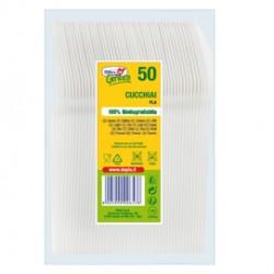 50 Cucchiai Compact in PLA bianco DoplaGreen