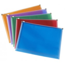 BUSTA ZIP BAG A4 COLORFUL KING MEC ACCO