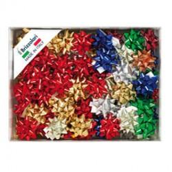100 stelle nastro metal 6870 10mmx5cm colori assortiti Brizzolari
