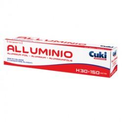 Roll alluminio H300mm x 300mt in astuccio con seghetto Cuki Professional