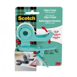 Dispenser per nastro adesivo CT grigio1 rotolo incluso 19x9,8mt Scotch