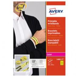 Braccialetti identificativi Giallo 5fg A4 265x18mm (10et/fg) laser Avery