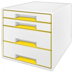 CASSETTIERA DUAL COLOR CUBE WOW GIALLO METALL.