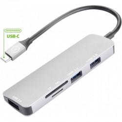 ADATTATORE TIPO C-HUB 3 USB/1SD/1TF