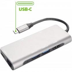 ADATTATORE TIPO C-HUB 2 USB/1USBC/1LAN/1HDMI CELLY