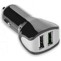 CARICABATTERIE AUTO 2 USB CELLY