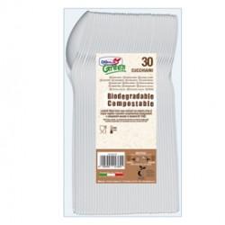 30 Cucchiaini avorio in Estabio Dopla Green art. 03906