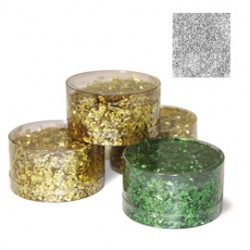Barattolo glitter grana grossa 150ml argento DECO