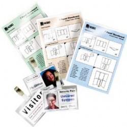 SCATOLA 100 POUCHES 125MIC 64X108MM LUGAGGE CARD c/asola lato corto