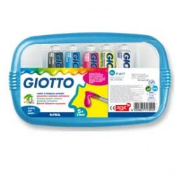 BOX 5 TUBETTI TEMPERA 21ML GIOTTO TUBO 7 ASSORTITO