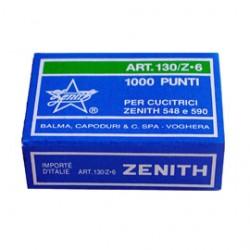 SCATOLA 1000 PUNTI ZENITH 130/Z6 (6/6) IN ACCIAIO ZINCATO