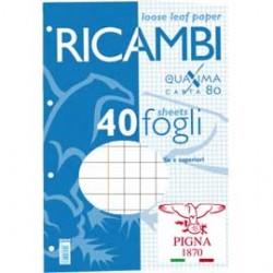 RICAMBI FORATI A4 5mm c/marg QUAXIMA 40FG 80GR PIGNA