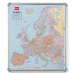 CARTA GEOGRAFICA EUROPEA MAGNETICA 95X111CM Nobo