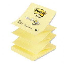 BLOCCO 100fg Post-it Z-Notes R330 Giallo Canary 76x76mm