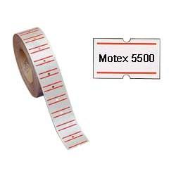 ROTOLO 1000 ETICHETTE 20X12 BIANCHE RIGATE PERM.TOWA GS-GM-MOTEX 5500