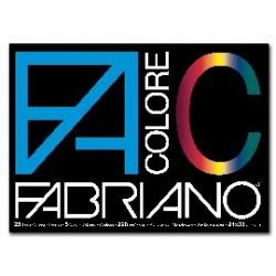 BLOCCO FACOLORE (240X330MM) 25FG 220GR 5 COLORI FABRIANO