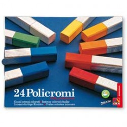 ASTUCCIO 24 GESSI POLICROMI QUADRATI 13x13x80mm