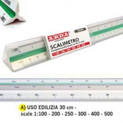 SCALIMETRO ISOTECK ARDA 30CM PER EDILIZIA (SCALE 1100-200-250-300-400-500)