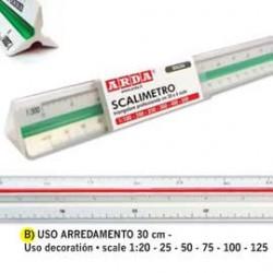SCALIMETRO ISOTECK ARDA 30CM PER ARREDAMENTO (SCALE 120-25-50-75-100-125)