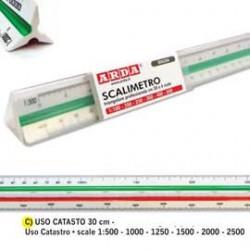 SCALIMETRO ISOTECK ARDA 30CM PER CATASTO (SCALE 1500-1000-1250-1500-2000-2500)