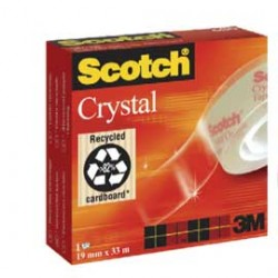 NASTRO ADESIVO SCOTCH CRYSTAL CLEAR 600 33MTX19MM