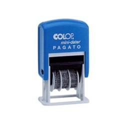 TIMBRO DATARIO + PAGATO S160/L1 AUTOINCHIOSTRANTE COLOP